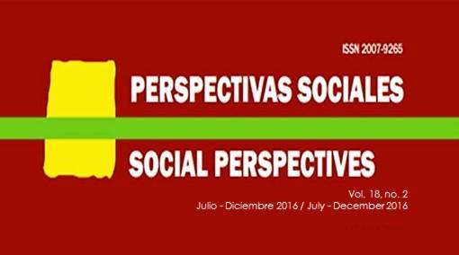 Ver Vol. 18 Núm. 2: PERSPECTIVAS SOCIALES/SOCIAL PERSPECTIVES